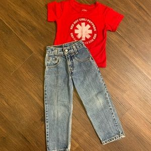 Boys Levi's Red Hot Chili Peppers tee